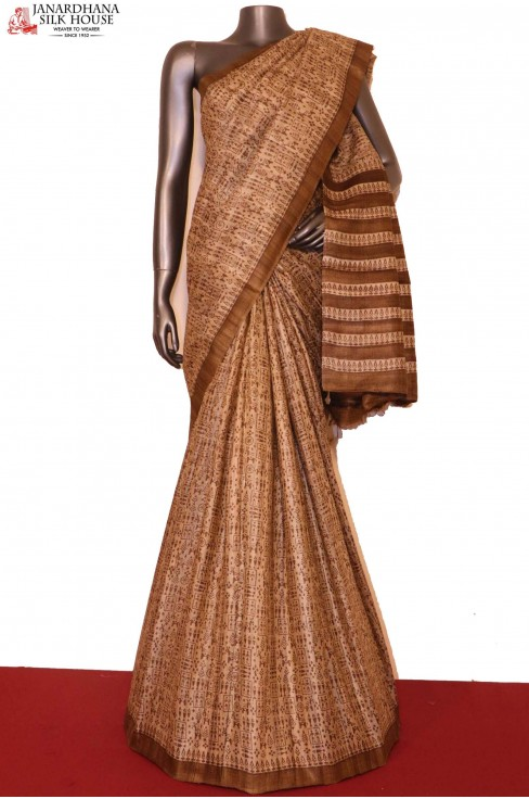 Exclusive Printed Pure Tussar ..