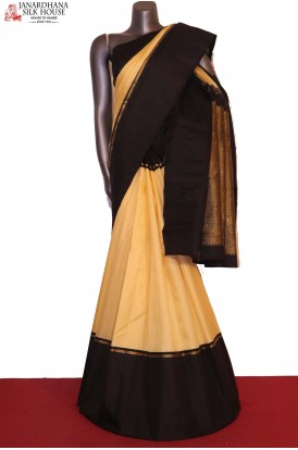 AG202601-Exquisite Mini Checks & Contrast Kanjeevaram Silk Saree
