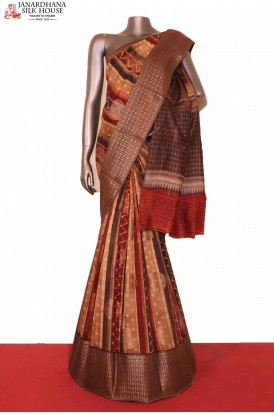 AG203031-Handloom Pure Chanderi Cotton Saree