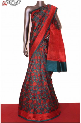Floral Exclusive Printed Pure Silk Saree