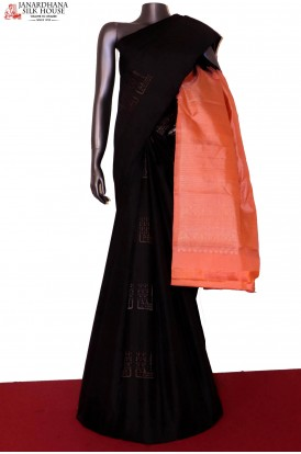 AG203237-Silver & Copper Designer & Exclusive Kanjeevaram Silk Saree