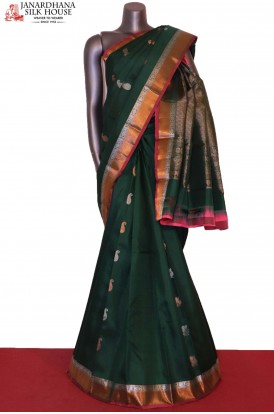 Silver & Copper Designer & Exclusive Kanjeevaram Silk Saree