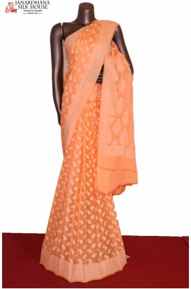Thread Weave Pure Crepe Silk Saree