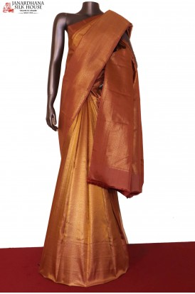 Grand & Exclusive Wedding Handloom Gold Kanjeevaram Silk Saree