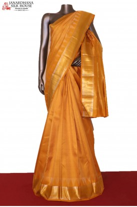 Traditional Temple Wedding Handloom Kanjeevaram Silk Saree