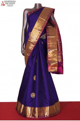 AG204424-Grand Wedding Handloom Kanjeevaram Silk Saree
