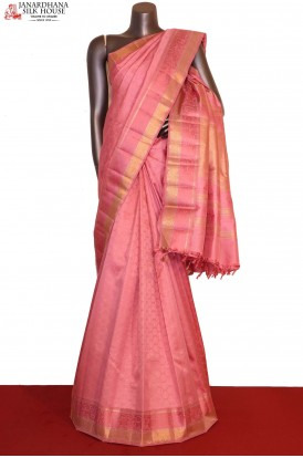 Exclusive Pink Kanjeevaram Silk Saree