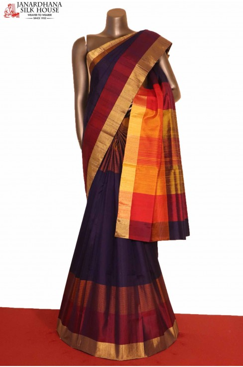 Exclusive Handloom Pure Soft Silk Saree-Slubs Weave