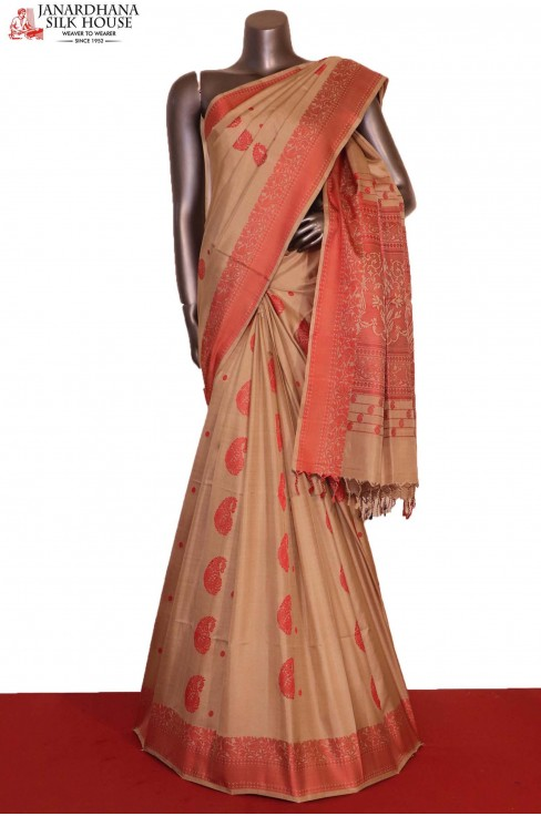 Thread Weave Exclusive Handloom Pure Soft Silk Saree