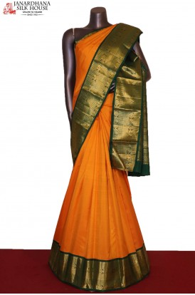 AG206073-Traditional & Classic Contrast Wedding Kanjeevaram Silk Saree