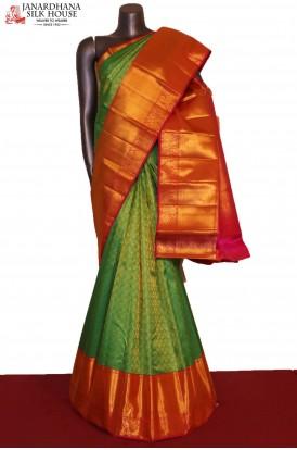 Grand & Exclusive Wedding Handloom Kanjeevaram Silk Saree