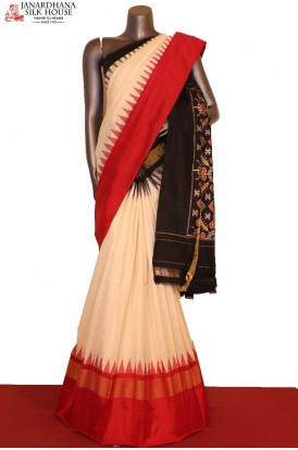 Exclusive & Grand Temple Handloom Pure Ikat Patola Silk Saree