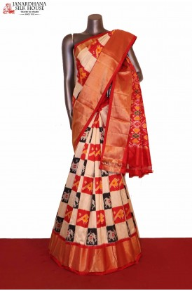 Exquisite & Grand Handloom Pure Ikat Patola Silk Saree