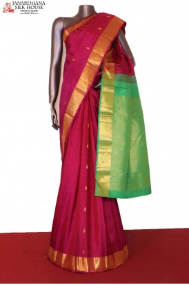 Traditional & Contrast Handloom Kanjeevaram Silk Saree