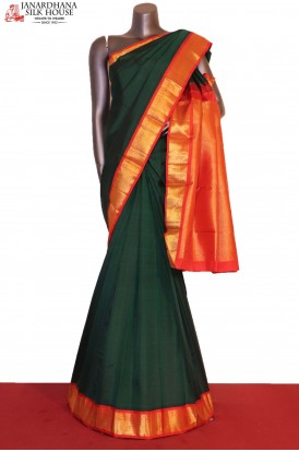AG206280-Contrast & Traditional Wedding Kanjeevaram Silk Saree