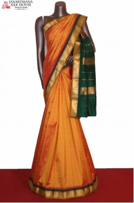 Traditional Temple South Silk Saree