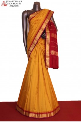 Traditional & Temple Contrast Classic Wedding Pure South Silk Saree
