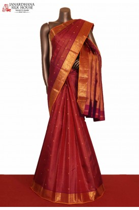 Zari Veldhari & Zari Buttas Grand Wedding Kanjeevaram Silk Saree