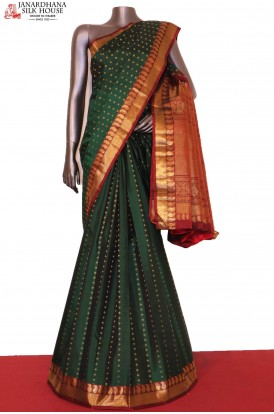 AG206311-Grand Wedding & Traditional Zari Butta Kanjeevaram Silk Saree