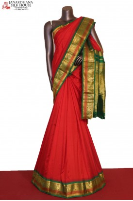 AG206343-Grand & Traditional Wedding Pure South Silk Saree