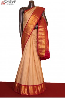 Zari Checks Zari Buttas Handloom Kanjeevaram Silk Saree