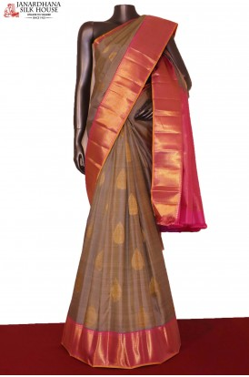 Traditional & Exclusive Contrast Handloom Kanjeevaram Silk Saree