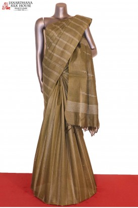 Handloom Exclusive Pure Tussar Silk Saree