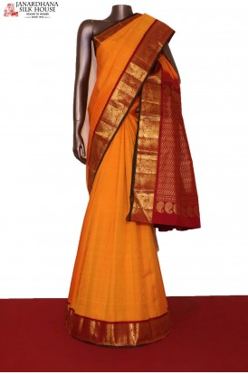 Traditional & Classic Contrast Wedding Handloom Kanjeevaram Silk Saree