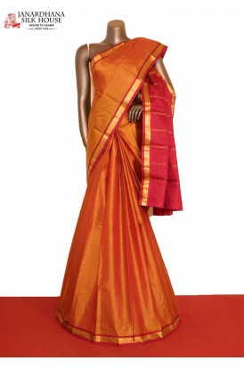 AG206538-Traditional & Contrast Pure South Silk Saree