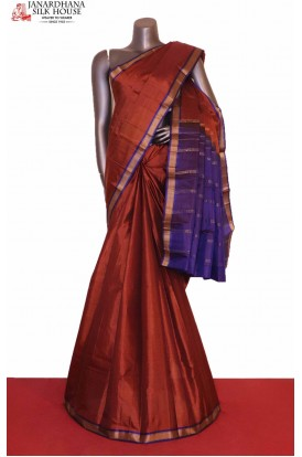 AG206546-Traditional & Contrast Pure South Silk Saree