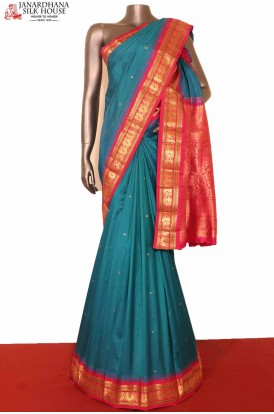 Peacock Classic South Silk Saree