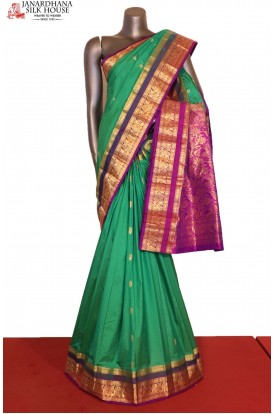 Grand & Contrast Classic Wedding Pure South Silk Saree