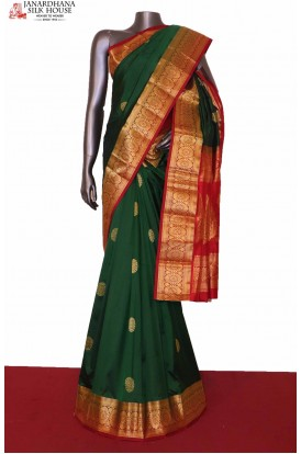 Green South Indian Wedding Silk Saree
