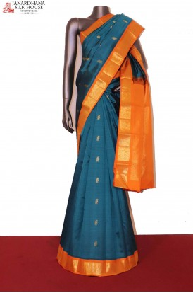 Traditional & Classic Contrast Kanjeevaram Silk Saree