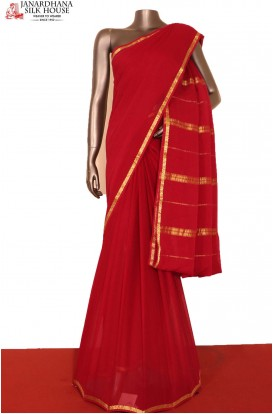 Traditional Pure Georgette Silk Saree