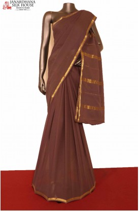 Traditional Pure Georgette Silk Saree