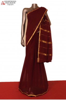 AG206969- Traditional Pure Georgette Silk Saree
