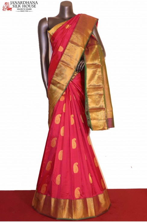Grand Pink South Indian Silk S..