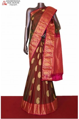 Two Tone Designer South Silk Saree