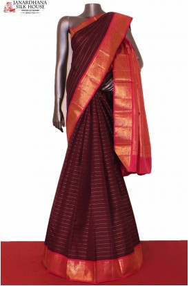 Traditional & Contrast Zari Veldhari Wedding Kanjeevaram Silk Saree