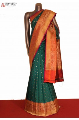 AG207017-Designer & Grand Handloom Banarasi Silk Saree