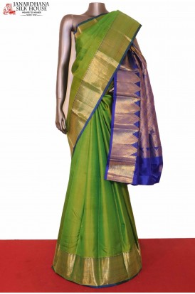 South Indian Green Silk Saree