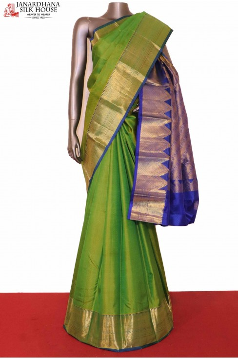 South Indian Green Silk Saree..