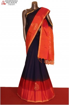 AG207149-Exclusive Handloom Pure Soft Silk Saree