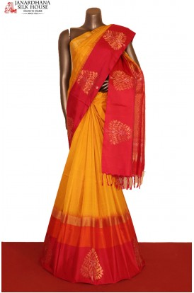 AG207154-Exclusive Handloom Pure Soft Silk Saree