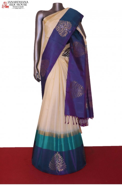 AG207159-Designer & Exclusive Handloom Pure Soft Silk Saree
