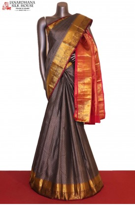 Traditional & Grand Contrast Pure South Silk Saree