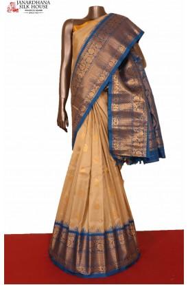 Grand & Ganga Jamuna Handloom Pure Gadwal Silk Saree