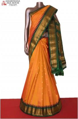 AG207207-Grand & Traditional Zari Butta Handloom Pure Gadwal Silk Saree
