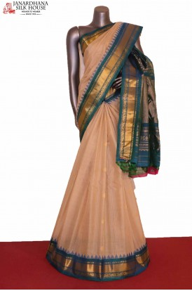 AG207214-Temple & Traditional Handloom Pure Gadwal Silk Cotton